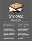 S'mores Recipe Gray Background