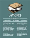 S'mores Recipe Blue Background