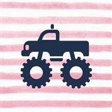 Monster Truck Graphic Pink Part III