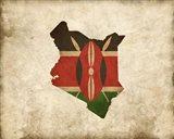 Map with Flag Overlay Kenya