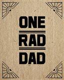 One Rad Dad - Brown Cardboard