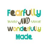 Fearfully and Wonderfully Made - Blue and Brown