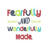Fearfully and Wonderfully Made - Red and Blue