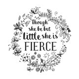 Though She Be But Little - Wreath Doodle White