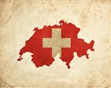 Map with Flag Overlay Switzerland