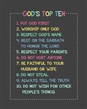 God's Top Ten Stitch Border - Rainbow