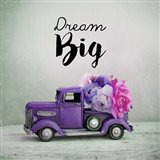Dream Big - Purple Truck and Flowers