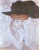 Woman with Black Feather Hat