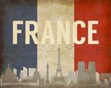 Paris, France - Flags and Skyline