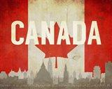 Ottawa, Canada - Flags and Skyline