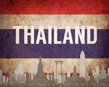 Bangkok, Thailand - Flags and Skyline