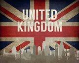 London, United Kingdom - Flags and Skyline