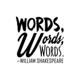 Words Words Words Shakespeare Black