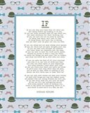 If by Rudyard Kipling - Retro Blue