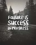 Failure Is Success In Progress - Black and White
