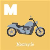 Transportation Alphabet - M is for Motorcycle