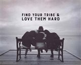 Find Your Tribe - Friend Trio Grayscale