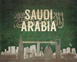 Riyadh, Saudi Arabia - Flags and Skyline