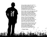 If by Rudyard Kipling - Man Silhouette White