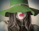 Vintage Fashion - Green Hat