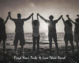 Find Your Tribe - Joined Hands Grayscale
