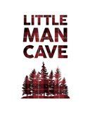 Little Man Cave - Trees Red Plaid