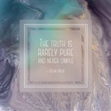 The Truth is Rarely Pure - Abstract Tan and Teal