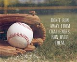 Don't Run Away From Challenges - Baseball