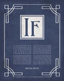 If by Rudyard Kipling - Ornamental Border Blue