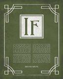 If by Rudyard Kipling - Ornamental Border Green