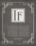If by Rudyard Kipling - Ornamental Border Gray