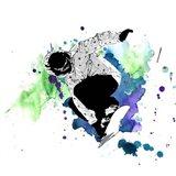 Snowboarder Watercolor Splash Part II