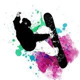 Snowboarder Watercolor Splash Part III