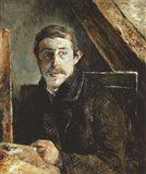 Gauguin Behind an Easel