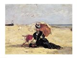 Woman with a Parasol on the Beach, 1880