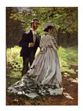 The Promenaders, or Bazille and Camille, 1865