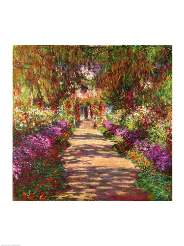 A Pathway in Monet's Garden, Giverny, 1902 Poster by Claude Monet for $67.50 CAD