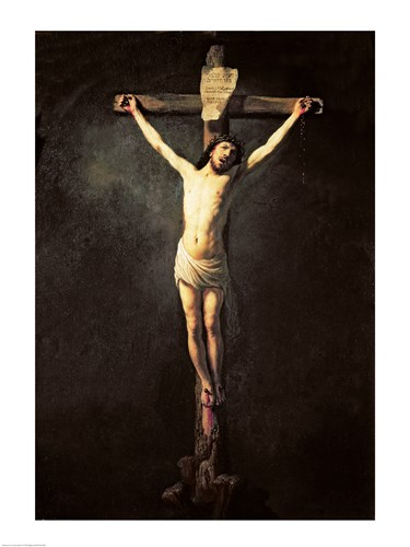 Christ on the Cross Poster by Rembrandt van Rijn for $32.50 CAD