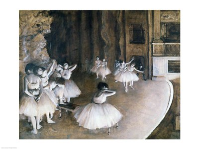 Ballet Rehearsal on the Stage, 1874 Poster by Edgar Degas for $32.50 CAD
