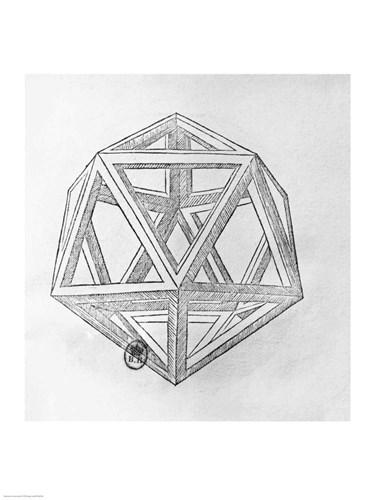 Icosahedron Poster by Leonardo Da Vinci for $32.50 CAD