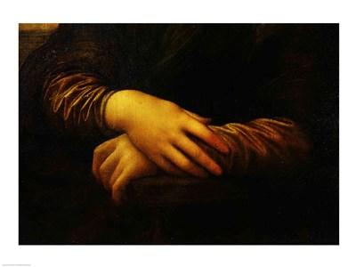Mona Lisa, detail of her hands Poster by Leonardo Da Vinci for $32.50 CAD