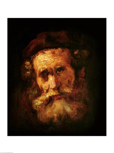 A Rabbi Poster by Rembrandt van Rijn for $32.50 CAD