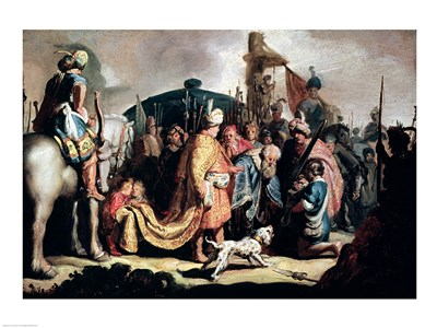 David Offering the Head of Goliath to King Saul Poster by Rembrandt van Rijn for $32.50 CAD