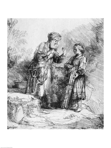 Abraham and Isaac, 1645 Poster by Rembrandt van Rijn for $32.50 CAD