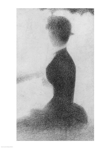 Study for Sunday Afternoon on the Island of La Grande Jatte (seated woman detail) Poster by Georges Seurat for $32.50 CAD
