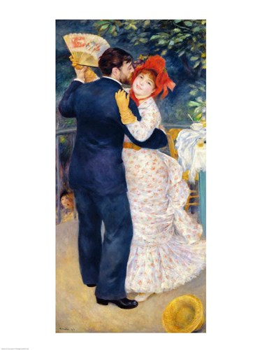 A Dance in the Country, 1883 Poster by Pierre-Auguste Renoir for $67.50 CAD