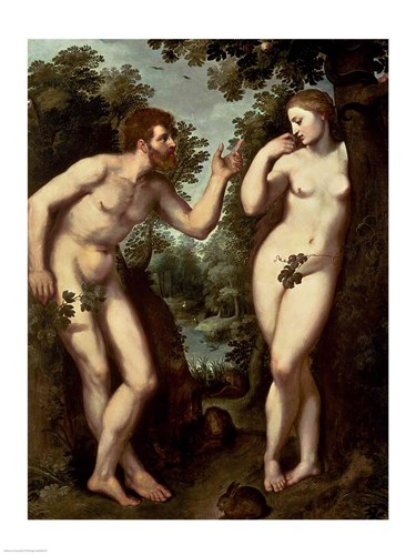 Adam and Eve, c.1599 Poster by Peter Paul Rubens for $32.50 CAD