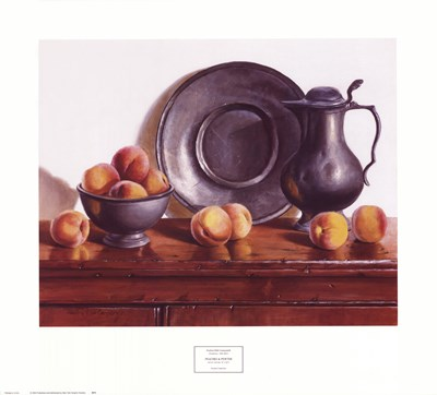 Peaches & Pewter Poster by Pauline Eble Campanelli for $37.50 CAD