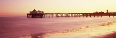 Pier at sunrise, Malibu Pier, Malibu, Los Angeles County, California, USA Poster by Panoramic Images for $80.00 CAD