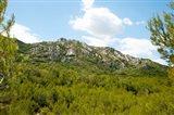 Low angle view of mountains, Alpilles, D25, Eyguieres, Bouches-Du-Rhone, Provence-Alpes-Cote d'Azur, France